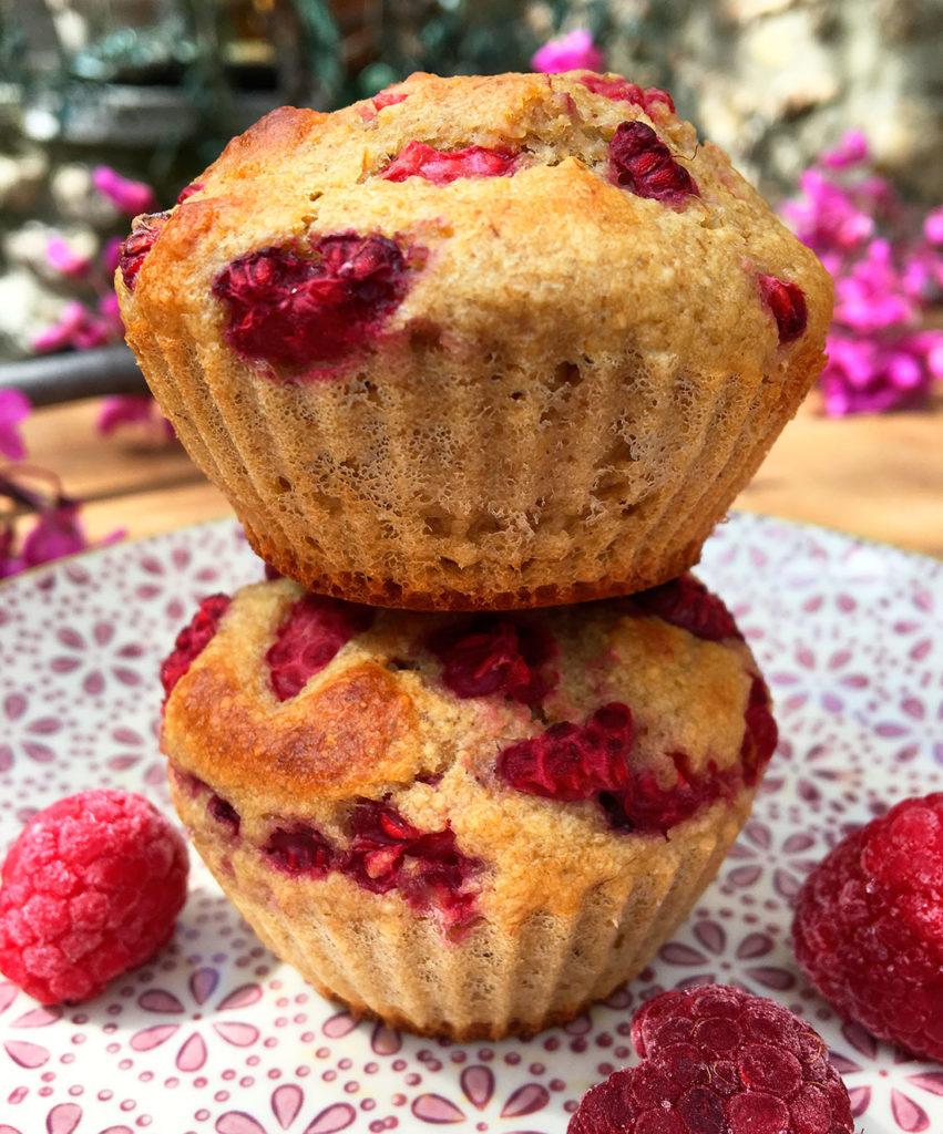 Blåbær-og-bringebærmuffins