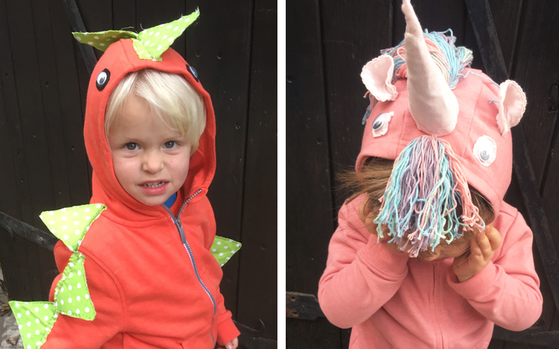 Karnevalkostymer Enhjørning og Dinosaur D.I.Y.