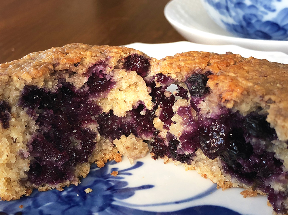 Sunne sitron og blåbærmuffins