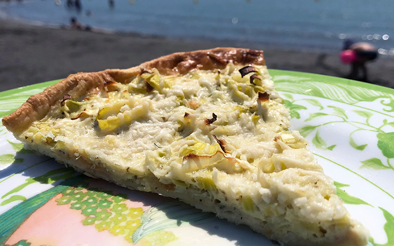 Pai med purreløk (tarte aux poireaux)