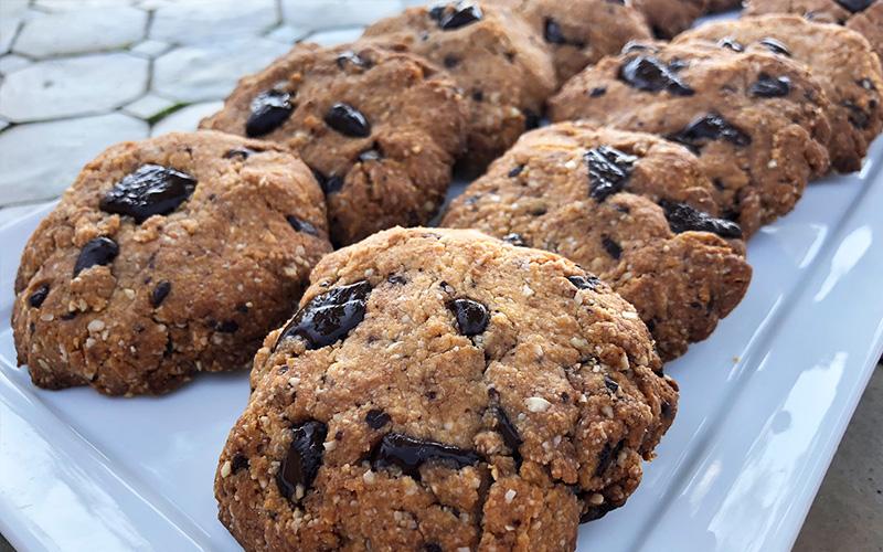 Cookies med sjokoladebiter (glutenfri og vegansk)