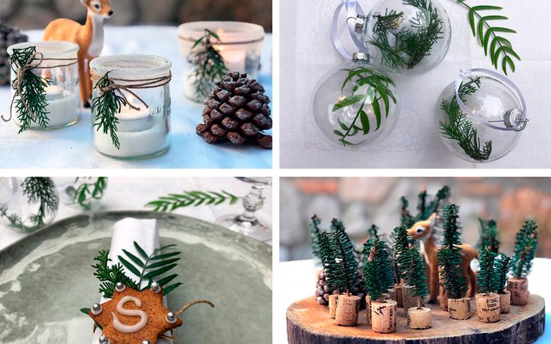 Bordet er dekket - dekorasjon til jul