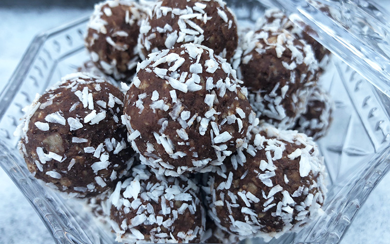 Havrekuler med sjokolade (sukkerfri)