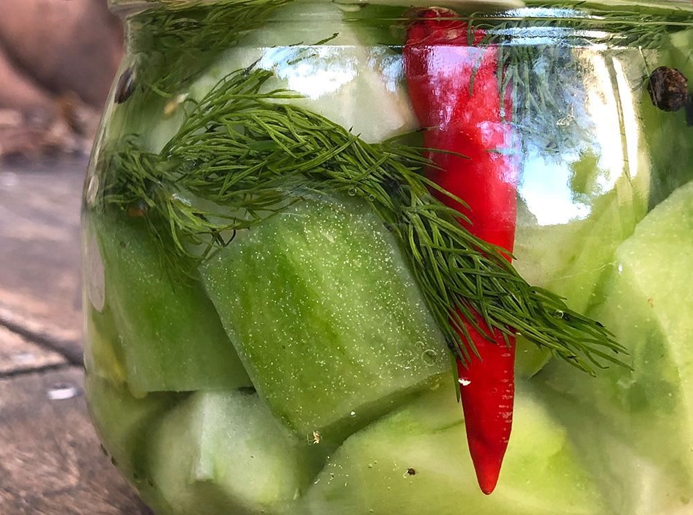 Syltede grønne tomater - pickels