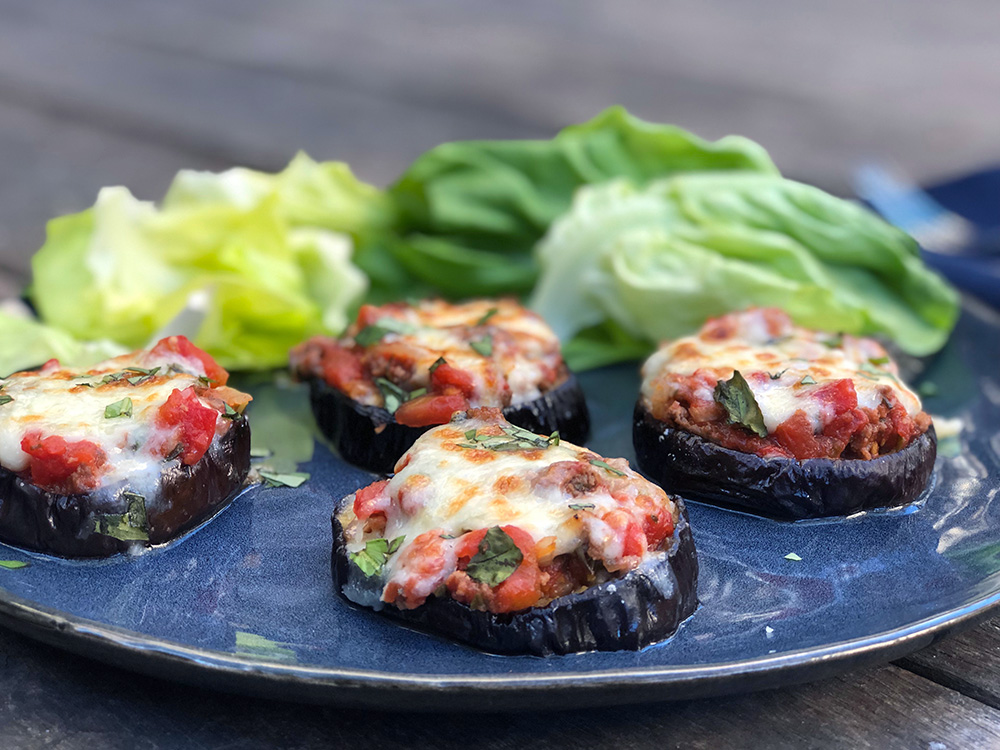 Auberginepizza – Low-Carb