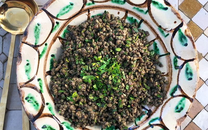 Libanesisk linsesalat med masse friske urter