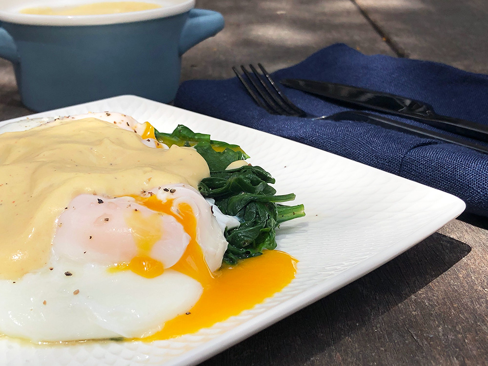 Eggs florentine (low carb)