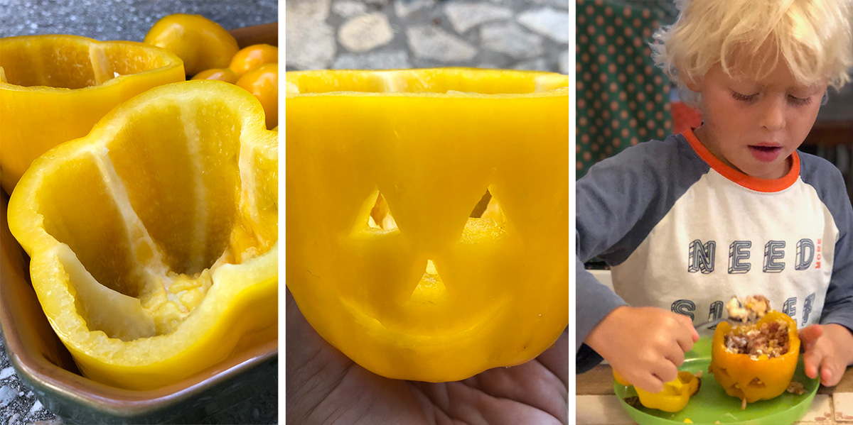 Barnas skremmende søte halloween paprika!