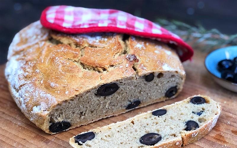 Grytebrød med rosmarin og oliven