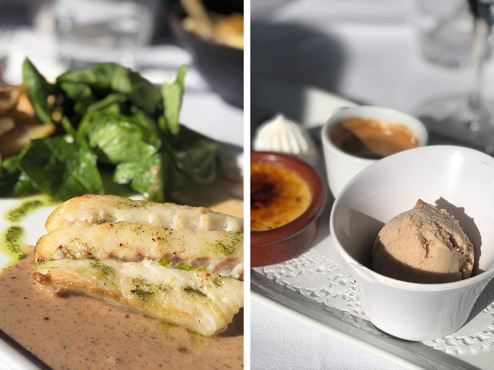 En helt typisk lunsj på Le Paradis Marin