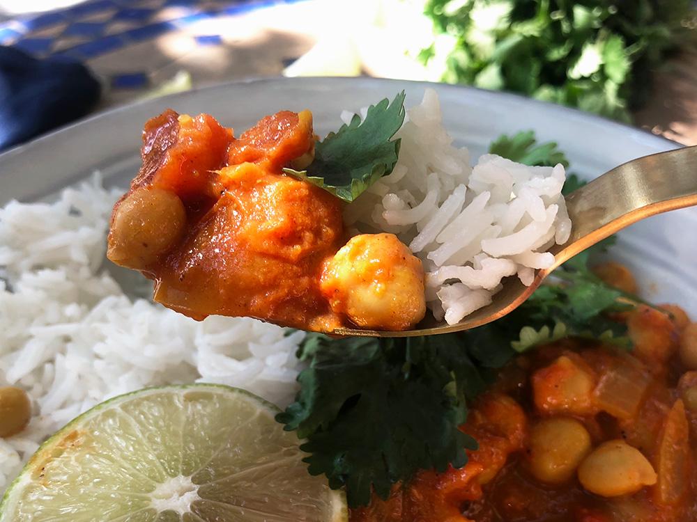 Tikka masala med kikerter (vegetar)