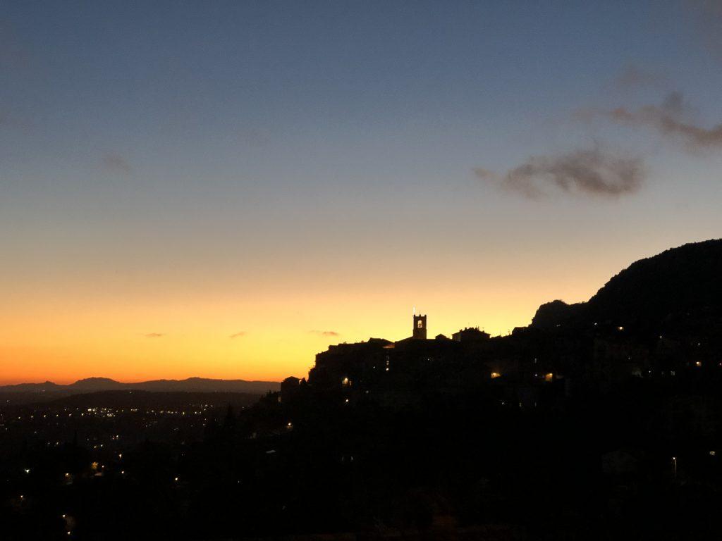 Saint Jeannet i solnedgang