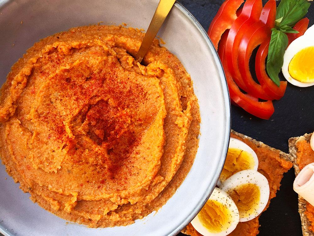 Kikertpålegg med røkt paprika