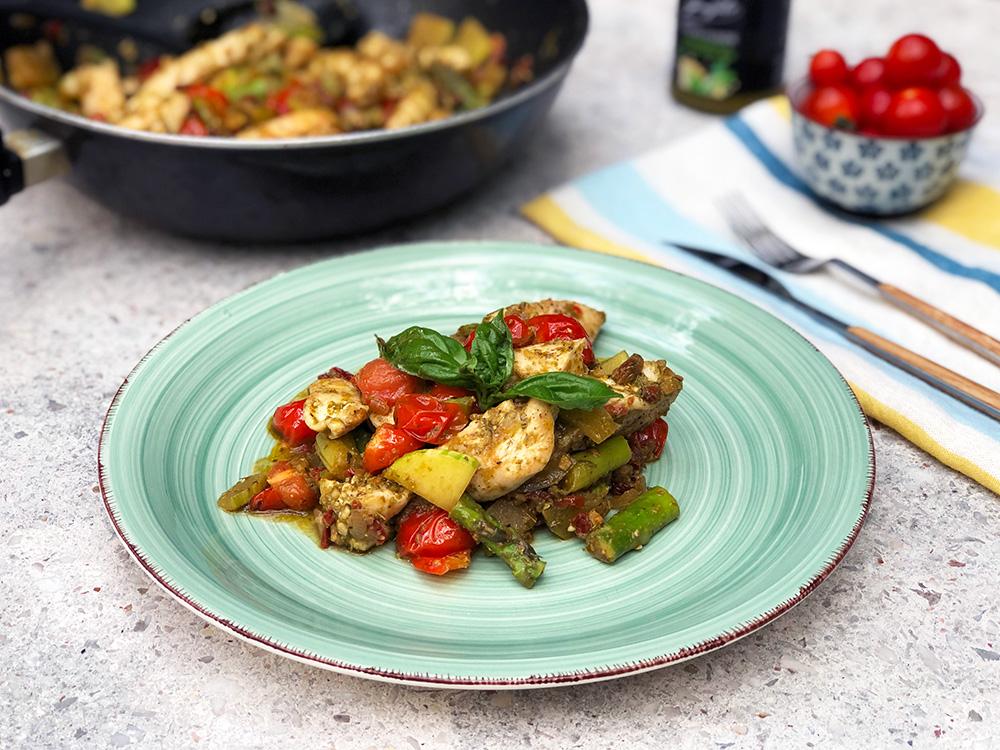 Kyllinggryte med grønnsaker fra Middelhavet