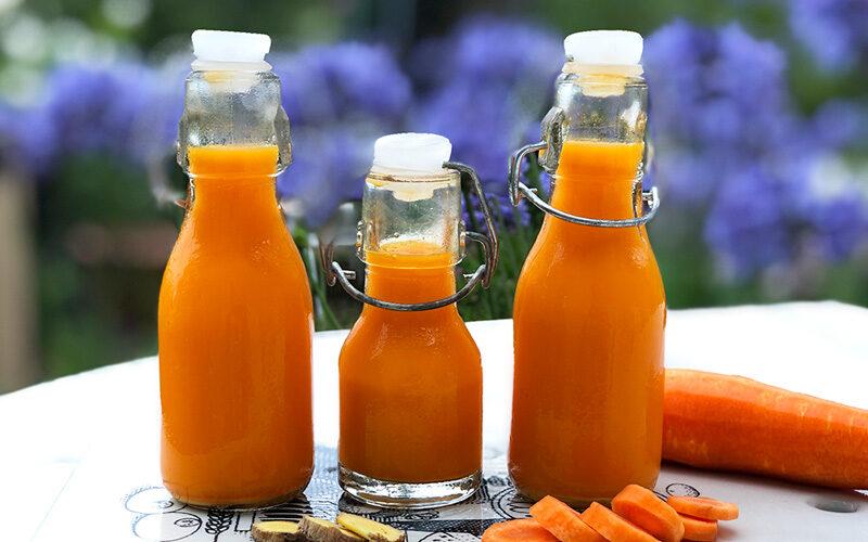 Sunnhetshot med sitron, gulrot og ingefær