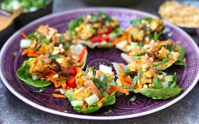 Grønne wraps med kylling - asian style!